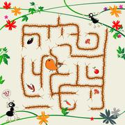 Complicated maze - stock illustration