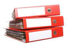 Stock Photo of file archive on white background