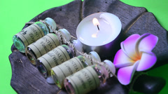 candle aroma therapy - stock footage