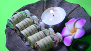 Stock Video Footage of candle aroma therapy