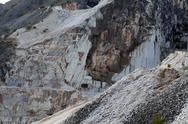 Stock Photo of the marble quarries - apuan alps