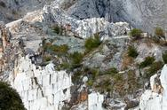Stock Photo of the marble quarries - apuan alps , carrara, tuscany, italy