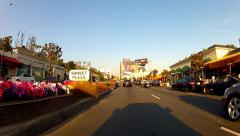 Driving East On Sunset Blvd Through Sunset Plaza- West Hollywood CA - stock footage