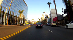 Driving East On Sunset Boulevard At Sunset- West Hollywood California Stock Footage