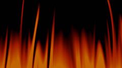 Raging cartoon fire Stock Footage