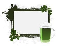 St. Patrick's banner - stock illustration