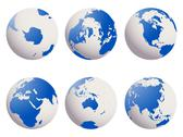 Stock Photo of earth globes set