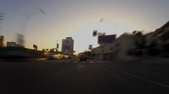 Driving Into Sunset On Sunset Boulevard- Hollywood, CA Time Lapse - stock footage