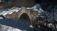 Le Pont De Moulin Closeup Stock Footage