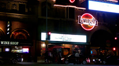 Laugh Factory Across Sunset Boulevard Traffic- West Hollywood CA - stock footage