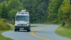 RV Summer Road Trip on Blue Ridge Parkway Stock Footage