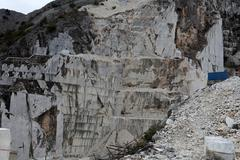 Stock Photo of the marble quarries - apuan alps , carrara,