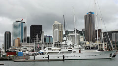 Auckland city (NZ)  downtown (City of sails) Stock Footage