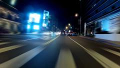 Night Driving On Sunset Boulevard Sunset Strip 30sec Time Lapse - stock footage