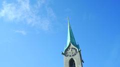 Beautiful Zurich Cityscape Stock Footage