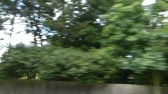 Drive pass a street of Oxford University by car, UK.(OXFORD UNI STREET SCENE40) Stock Footage