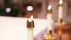 Candles at Church Stock Footage