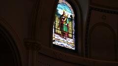 Stained Glass in Church Stock Footage