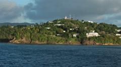 St Lucia Castries luxury coastal homes 2 HD 1726 Stock Footage