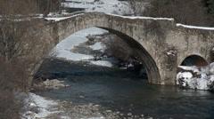 Le Pont De Moulin Verdon Flow Through Stock Footage