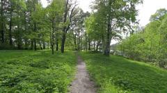 Narrow path Stock Footage
