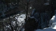 Le Pont De Moulin Tilt Up Side of House Stock Footage