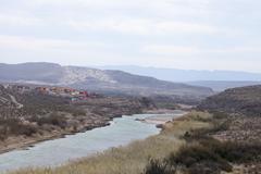 Rio Grande näkymät Meksiko Kuvituskuvat