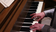 Stock Video Footage of Man Playing Piano 1