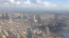 Flight over Tel-Aviv Stock Footage