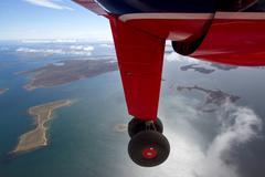 Stock Photo of flight over falkland islands