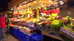 Fresh fruits in market Stock Footage