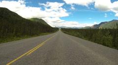 Driving POV Alaska Highway 1 Tok Cutoff 1 of 8 - stock footage