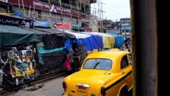 Kolkata - view from a moving tram Stock Footage