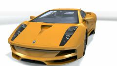 Luxus Sport Car isolated Stock Footage