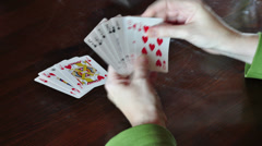 Playing card game Stock Footage