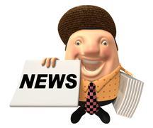 News reporter - stock illustration