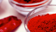 Stock Video Footage of hot spices: red hot chili peppers