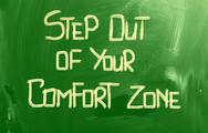 Stock Photo of step out of your comfort zone concept