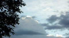 Time-lapse video clouds. Tree brances. Stock Footage