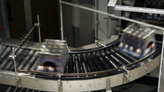 Beer factory interior with a lot of machines Stock Footage