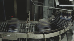 Beer factory interior with a lot of machines - stock footage
