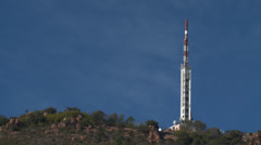 Massif de L'Esterel Communications Tower Stock Footage