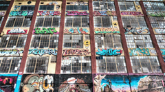 5 Pointz in New York City Stock Footage