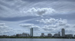 HDR Time lapse Boston Skyline Charles River Stock Footage