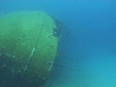 Ship wreck underwater diving video Stock Footage