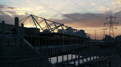 Excel London at sunset Stock Footage