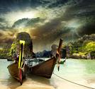 Stock Photo of traditional thai boat
