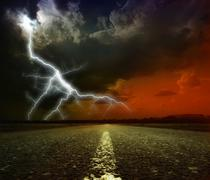 Lightning storm Stock Illustration