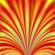 Orange and Yellow Fanfare - stock illustration