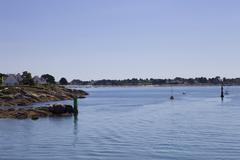 Coast of concarneau, in the north of france Stock Photos